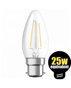 Osram LED Candle 2.8w (=25w) BC Clear