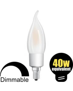 Osram LED Bent Tip Candle 4.5w (=40w) SES Pearl DIM