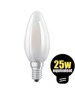 Osram LED Candle 2.8w (=25w) SES Pearl